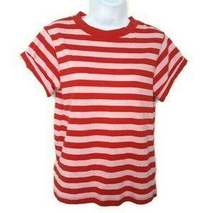 Topshop Striped Short Sleeve T-Shirt